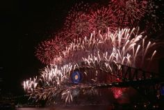 2014 | AUSTRALIA | Fireworks light up the sky from The Sydney Harbour Bridge at midnight during New Year's Eve celebrations on Sydney Harbour on January 1, 2014, in Sydney, Australia. (Photo by Joosep Martinson/Getty Images)