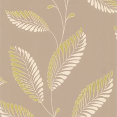 "Accents Aubrey Modern Trail 33' x 20.5"" Leaf 3D Embossed Wallpaper"