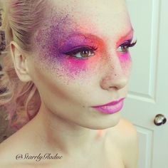 Splatter paint photoshoot makeup (This would be cool maybe with some powder paint too??)