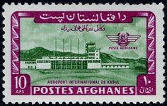 Stamp: Kabul International Airport (Afghanistan) (Inauguration of Kabul Airport) Mi:AF 910,Sn:AF C57,Sg:AF 511 #colnect #collection #stamps