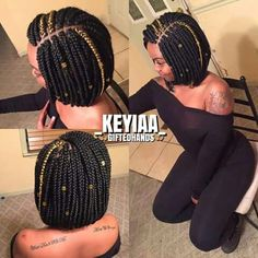 How to style the box braids? Tucked in a low or high ponytail, in a tight or blurry bun, or in a semi-tail, the box braids can be styled in many different ways. African Braids Hairstyles, Girl Hairstyles, Braided Hairstyles, Protective Hairstyles, Black Girl Braids, Girls Braids, Curly Hair Styles, Natural Hair Styles, Bob Braids