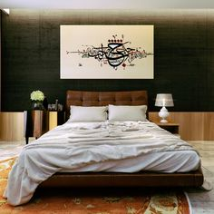 This Persian-inspired bedroom from Projek F is highly sophisticated. The leather headboard and Persian art are dark almost fragrant, begging for you to turn off the lights.