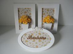 Quadro de flores artificiais em eva, com fundo em tecido e placa decorativa com palavra em mdf, fazemos em outras cores ou com palavra lavabo