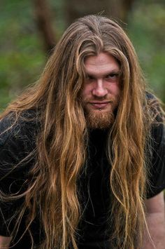 opocolyptica:  long hair and dreamy eyes <3 Looks like my man... Lucky girl that I am :D (mine has a better beard ;P)