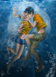 Pisces are never egotistical in their relationships.  They give more than they ask from their friends and lovers. (astrology-online.com) (Art - Underwater by juliajm15.deviantart.com) (Percy Jackson - The Olympians)