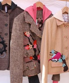 I absolutely LOVE these coats by the Bella Sisters! It really makes me want to learn to sew!