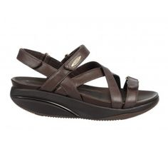 MBT Kiburi Chocolate Leather Women's Sandal The unique multi-layered sole and Masai sensor emulates the feeling of walking on sand. Online Shopping Shoes, Shoes Online, Shoe Shops Uk, Walk On, Shoe Sale, Strappy Sandals, On Shoes, Buy Now, Footwear