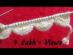 Knitting Patterns For Kids Easy Designer Border (Scallop Border) Baby Knitting Patterns, Lace Knitting, Knitting Stitches, Knitting Designs, Knitting Projects, Knitting Socks, Stitch Patterns, Crochet Patterns, Knit Edge