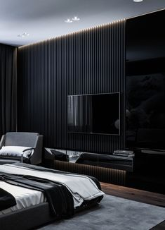 Modern Bedroom Ideas - All the bedroom design ideas you'll ever need. Find your design as well as develop your dream bedroom scheme whatever your budget plan, style or space size. Black Bedroom Design, Master Bedroom Design, Home Decor Bedroom, Master Bathroom, Modern Master Bedroom, Master Bedrooms, Bedroom Designs, Rustic Home Design, Home Room Design