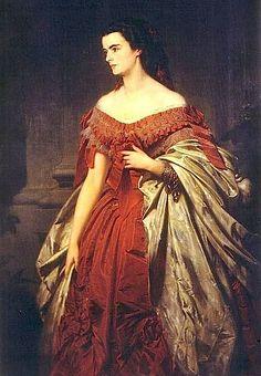 Erbprinzessin Helene von Thurn und Taxis, geborene Herzogin in Bayern, genannt Néné - Gemälde von Erich Correns 1859