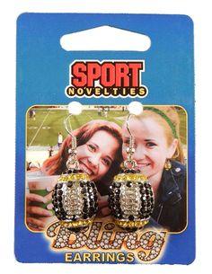 Team Color Football Earrings