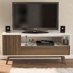 """You'll love the Quincy 59"""" TV Stand at AllModern - With Great Deals on modern Living Room Furniture products and Free Shipping on most stuff, even the big stuff."""