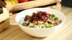 Brokoli ve Üzümlü Makarna Salatası