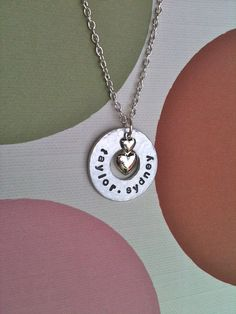Circle Of LovesPersonalized Hand Stamped by DarkChocolateNTulips, $30.00