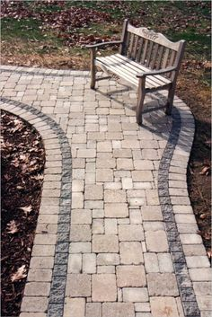 random pavers with a double border