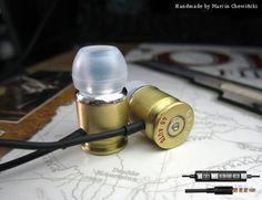 Słuchawki z pilotem i mikrofonem, łuska .45 AUTO