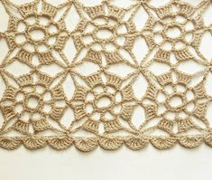 Photo about Beige crochet lace on white background. Image of surface, textured, pattern - 33536972 Photo about Beige crochet lace on white background. Image of surface, textured, pattern - 33536972 Crochet Skirt Pattern, Crochet Blouse, Crochet Squares, Crochet Motif, Crochet Shawl, Crochet Doilies, Crochet Flowers, Crochet Stitches, Knit Crochet