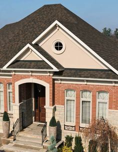 IKO manufactures a range of residential asphalt roof shingles. View pictures of roof shingles in our photo gallery to get inspiration on roofing your home. Shingle Colors, Asphalt Roof Shingles, Residential Roofing, Take You Home, Roof Design, Cambridge, Home Remodeling, Photo Galleries, Mansions