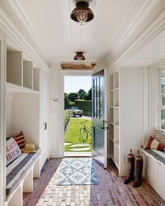 Mudroom Ideas – A mudroom may not be a very essential part of the house. Smart Mudroom Ideas to Enhance Your Home Brick Flooring, Brick Pavers, Penny Flooring, Farmhouse Flooring, Ceramic Flooring, Modern Flooring, Cork Flooring, Basement Flooring, Flooring Ideas
