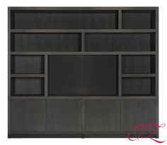 Grote wandkast met veel opbergruimte en plek voor een TV! Ook verkrijgbaar in andere afmetingen & kleuren. - Jannetta van der Ziel