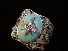 Hand Crafted Turquoise Farvahar Bracelet Iranian Persian Gift Iran Persia Pahlavi Art Faravahar Farohar Zoroastrian Symbol by Asoodehdelan, http://www.amazon.com/dp/B007OZGEKO/ref=cm_sw_r_pi_dp_wLq4pb15MVMK7