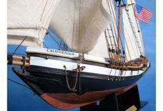 "Topsail Schooner ""Californian"" Wooden Model Ship"