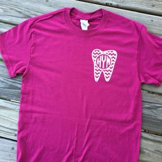 Hey, I found this really awesome Etsy listing at https://www.etsy.com/listing/271517162/monogrammed-chevron-dental-short-sleeve