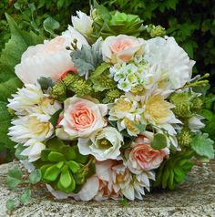 Peony, blushing bride, wax flower, rose buds, astrantia & dusty miller  thebloomroom.net.au