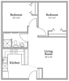 Floorplan 2bdrm A