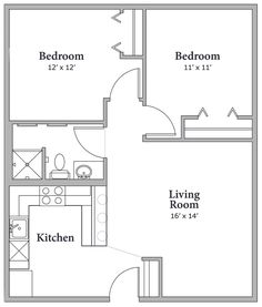 10 Best 750 Sq Ft Two Bedroom Images House Floor Plans Floor