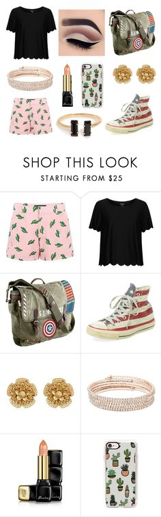 """CACTUS!"" by rojoubdalia on Polyvore featuring American Retro, Topshop, Marvel, Clinical Care Skin Solutions, Miriam Haskell, Anne Klein, Guerlain and Casetify"