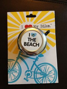 Beach Cruiser Bike Bell / I Heart the by SweetPEmbellishments, $15.00