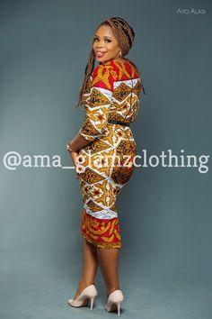 GlamzByAma Tamara Ankara Pencil Dress/ Bodycon Dress/ African | Etsy Ankara Dress, Ankara Fabric, African Dress, Erin Murphy, Ankara Tops, Mixing Prints, Pencil Dress, African Fashion, My Girl