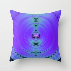 Fractal Art 093 Throw Pillow by EML - CircusValley - $20.00