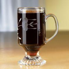 2 Princess House Hot Beverage HERITAGE Irish Coffee Mugs-Set of Two