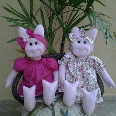 Porquinhas em feltro para festas infantis/Atelie Telma Ferreira