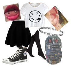 """""""Untitled #100"""" by steamynightmare on Polyvore featuring Plush, Converse, women's clothing, women, female, woman, misses and juniors"""