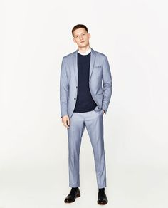 Image 1 of SKY BLUE BLAZER from Zara