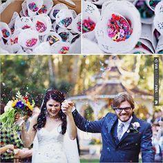 confetti toss | VIA #WEDDINGPINS.NET