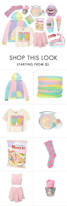 """""""candy vampire"""" by petitepasserine ❤ liked on Polyvore featuring X-girl, ASOS, Timex, Mineral, HUF, Rare London, Hello Kitty, Lab and Etude House"""