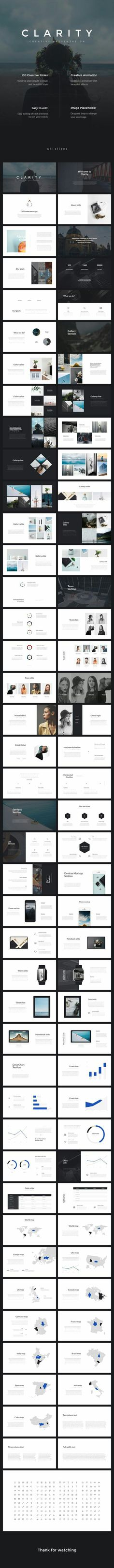 Business infographic : Clarity Keynote Presentation Keynote KEY Available here Keynote Presentation, Design Presentation, Presentation Templates, Presentation Slides, Keynote Design, Pag Web, Creative Powerpoint, Slide Design, Grafik Design