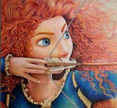 merida line art Disney Art, Disney Princess Art, Disney Rapunzel, Cute Disney, Disney Magic, Brave Disney, Walt Disney, Dibujos Cute, Disney Pictures