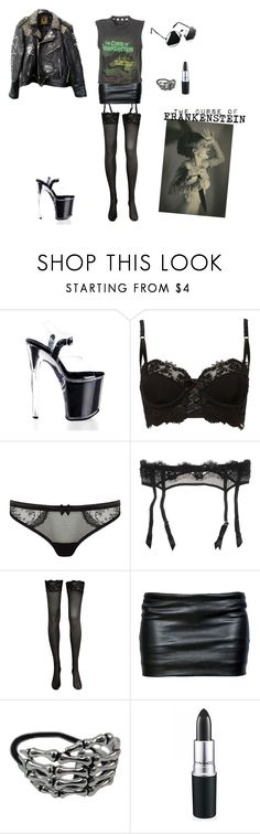 """""""The curse of Frankenstein"""" by ayme ❤ liked on Polyvore featuring Untold, Myla, VALERY, Ann Demeulemeester, MAC Cosmetics, gothic, grunge, alternative, punk and rocker"""