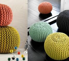 Fuente: http://www.themodernhome.com/2010/02/knitted-poufs.html