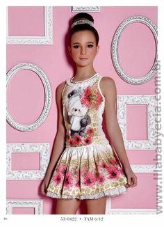 Blusa e Saia Infantil Miss Cake Doce Princesa 530422