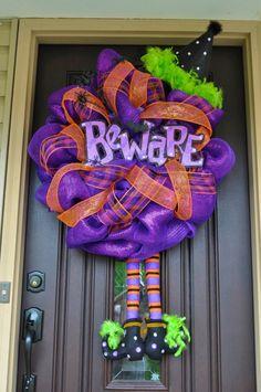 Halloween Wreath - very cute idea!
