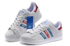 quality design 374d4 5e4aa nuevo Original Adidas Sueprstar 2.0 Blanco azul rojo Casual Zapatos G50958