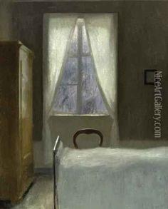 vilhelm hammershoi paintings -