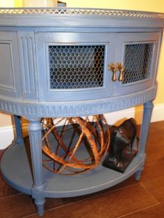 Side table upcycle from a #ReStore find.