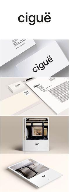 ciguë : identité graphique de l'agence d'architecture logotype / papeterie / book agence / documentation de présentation / dossier de presse